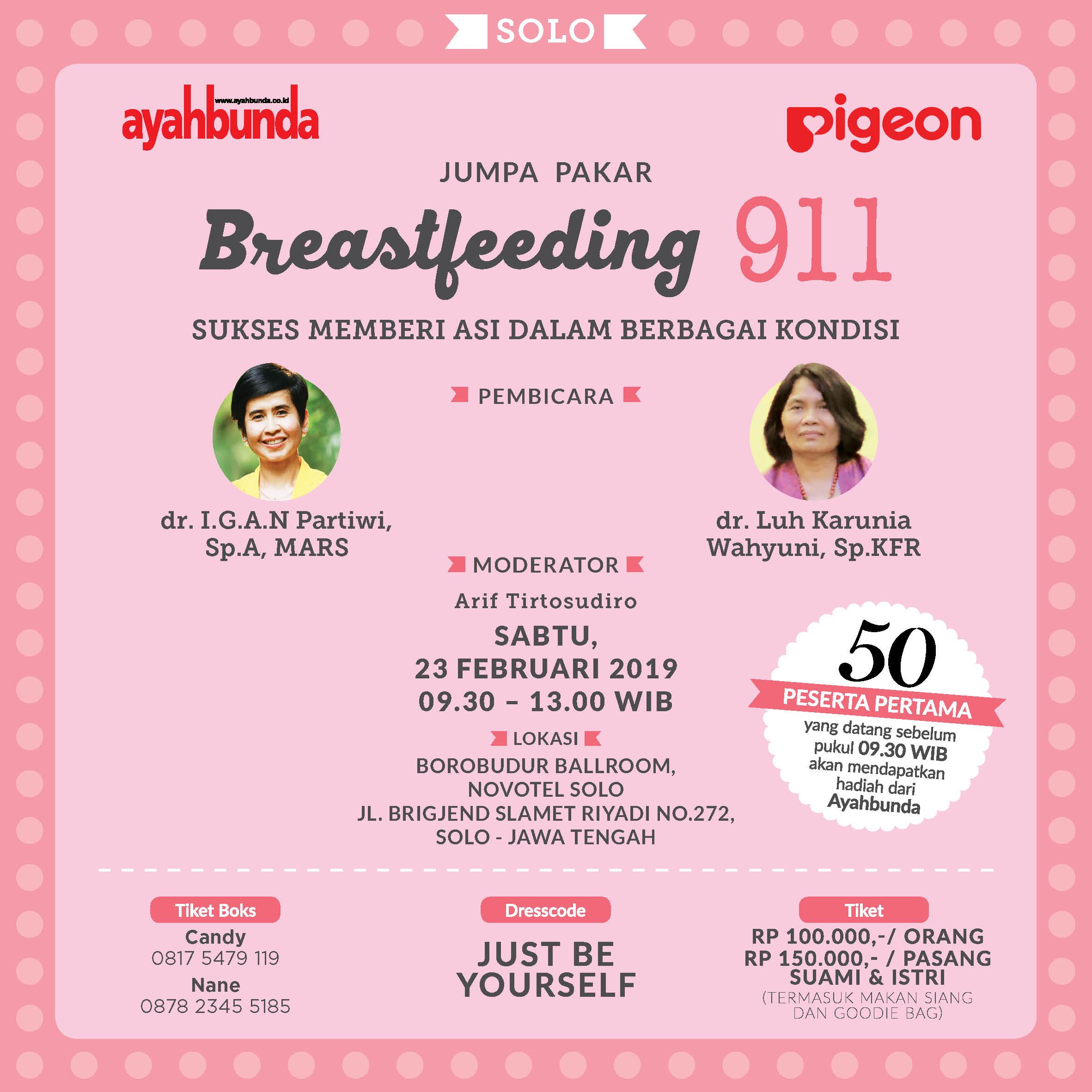 Jumpa Pakar Breastfeeding 911 di Solo