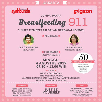 Jumpa Pakar Breastfeeding 911 di Jakarta